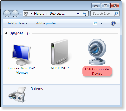 USB device is available for usage over RDP